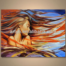 Popular Modern Handpainted Woman Picture Art Painting For Decor