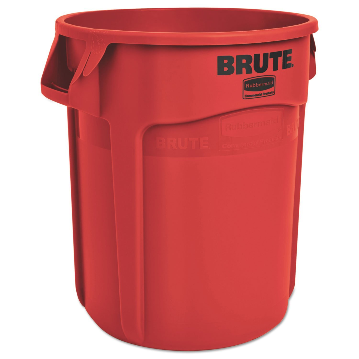 Rubbermaid 2620REDCT Round Brute Container, Plastic, 20 gal, Red, 6/Carton