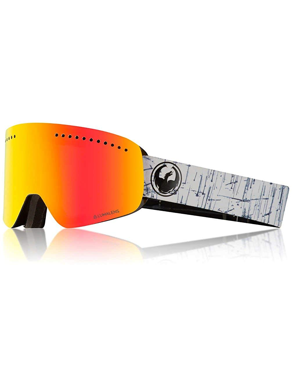 a04720ea57e7 Get Quotations · Dragon NFX Realm Snow Goggles One Size Lumalens Red Ionized