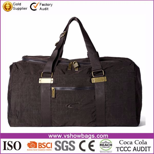 High quality large capacity portable travel man bag tote camel travel bag