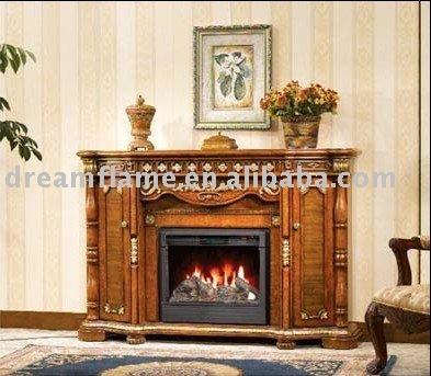 Madera chimenea mantal decorativa el ctrica ad626 - Chimenea decorativa madera ...