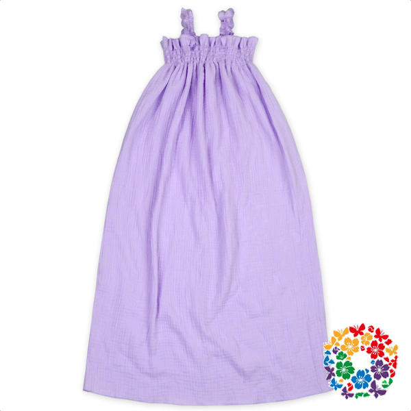 Lavender Color Little Girls Cotton Summer Dresses Off-Shoulder Children Long Frocks Designs 1 Year Baby Girl Dresses For Party