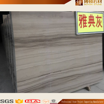 Athens Grey Wood Grain Natural Stone Wall Covering Marble Slab Product