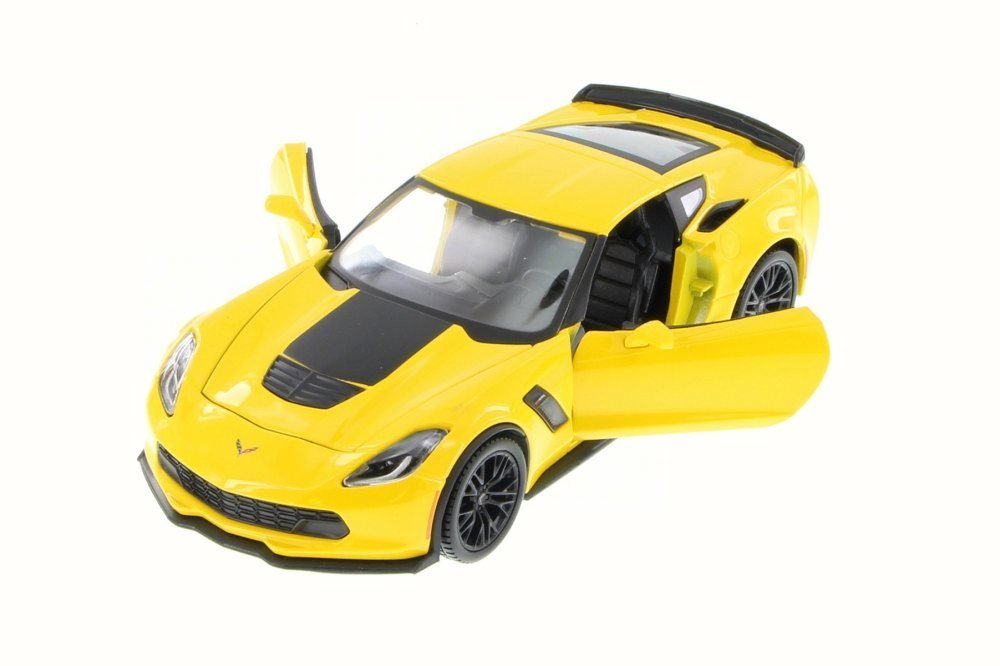 2015 Chevy Corvette Z06, Yellow - Maisto 34133 - 1/24 Scale Diecast Model Toy Car