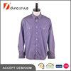 High Quality Purple and White Striped Print Military Long sleeve Shirt Custom