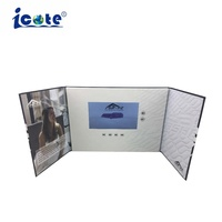 Cote 7 Inch LCD Video Brochure With Two Folder From Company Marketing