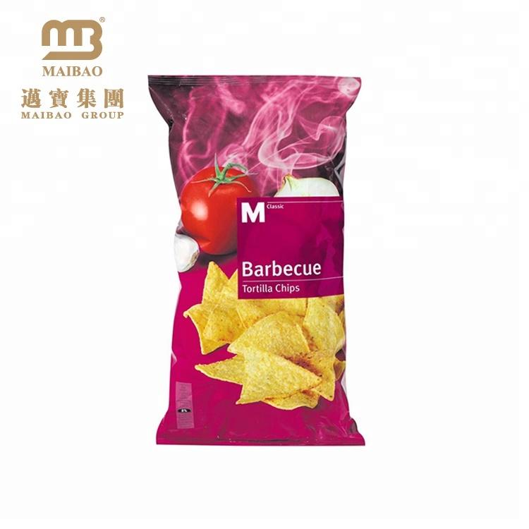 Laminato Sacchetti Patatine fritte Snack Cuscino Aromatizzati Oem/Odm Accettato Corn Tortilla Chips Sacchetto di Imballaggio