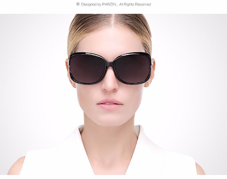 19651912a4 Parzin Bamboo Design Sunglasses Women Polarized Women\`s Sun Glasses  Fashion Shades Female Driving Glasses With Case 9502