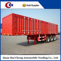 HC 55T 3 axles iso closed cargo transport van semi trailer 12R22.5 tire low price for sale