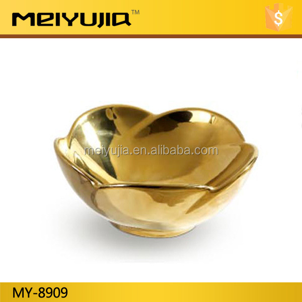 hotel egg shape long life luxury electroplate gold wash basin for sale