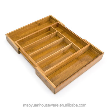 Removable Bamboo Wood Drawer Organizer, Drawer Dividers