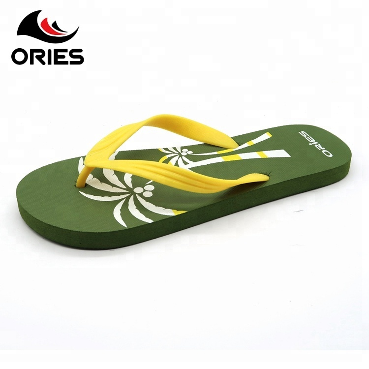 e61f516c3ea45 Beach Custom Printed Flip Flops Men Slippers