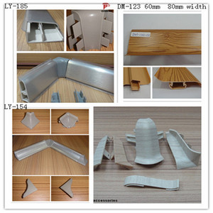 Accessories pvc kitchen skirting, aluminum wall seal profile