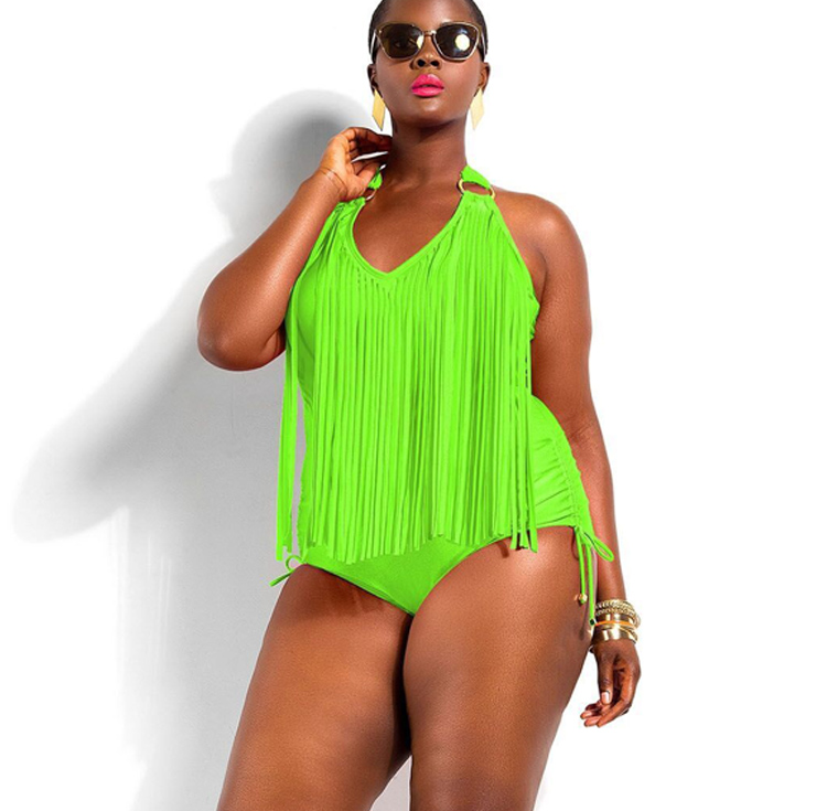 8a9f01610e Get Quotations · 2015 Newest Summer Backless One Piece Swimsuit Sexy Plus  Size Swimwear Fringed Bathing Suits Women Modest
