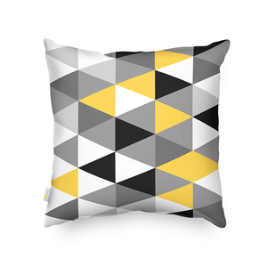 Latest Design Printed Grey Mustard 100%Polyester Scandinavian Geometric Cushion Cover