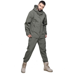 Winter Military Hood Men Army Uniforms Cheap sharkskin Tactical Military Fleece softshell Jacket