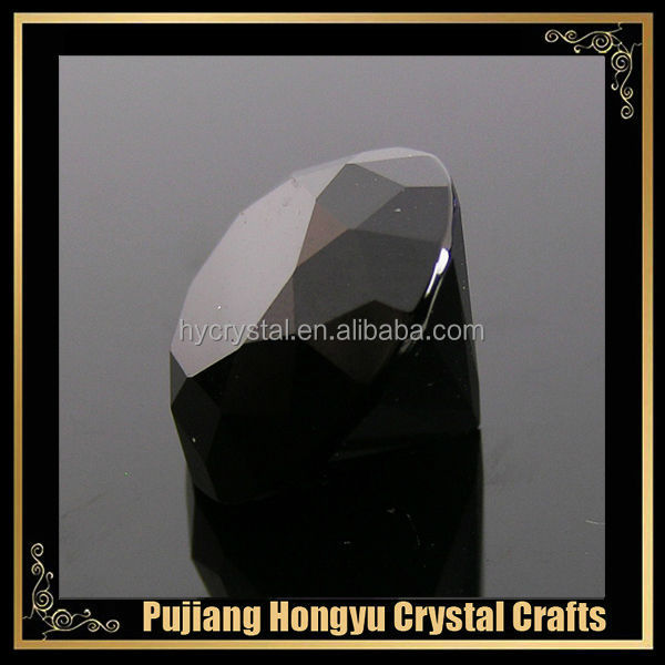 black crystal paperweight