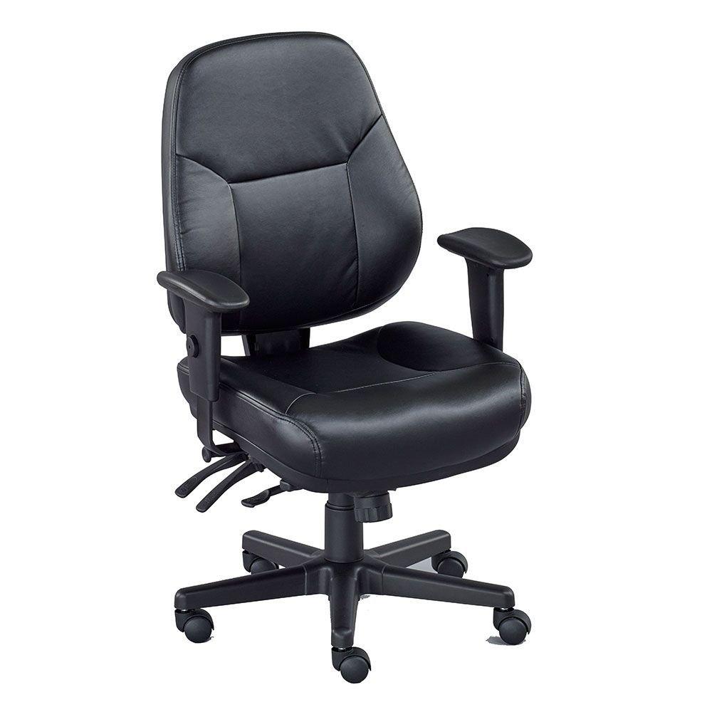 "Multi-Shift Chair in Polyurethane Dimensions: 25""W x 28""D x 38-42""H Seat Dimensions: 20""Wx20""Dx19-23""H Weight: 64 lbs. Black Castillo Polyurethane/Black Frame"