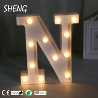 Decorative Led Giant Bulb Letters Signs Light Up Marquee N Letters For Wedding