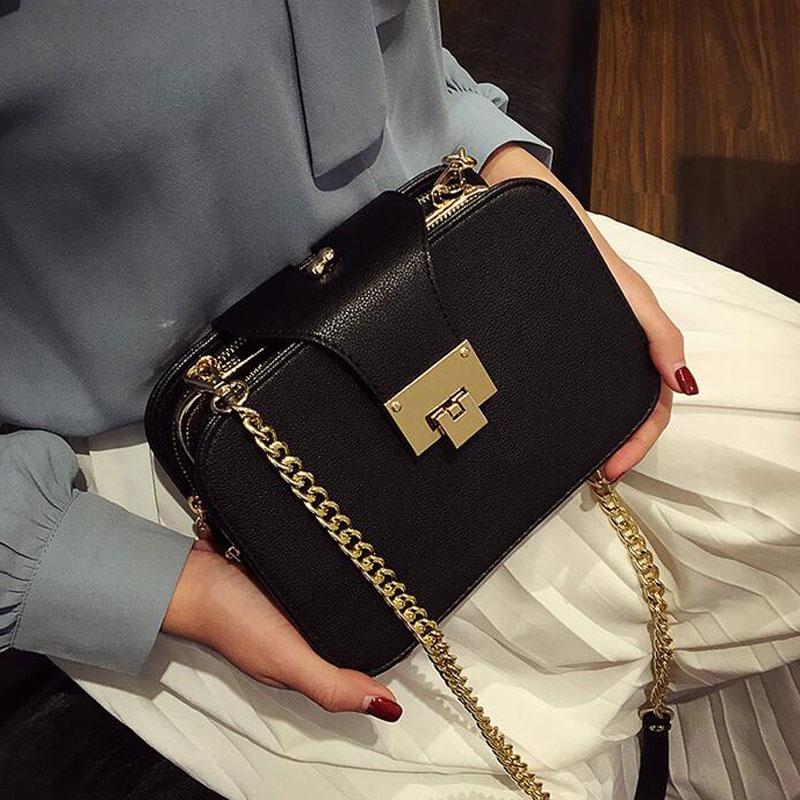 2018 Summer New Fashion Women Shoulder Bag Chain Strap Flap Messenger Bags  Desig b49b7090d5454