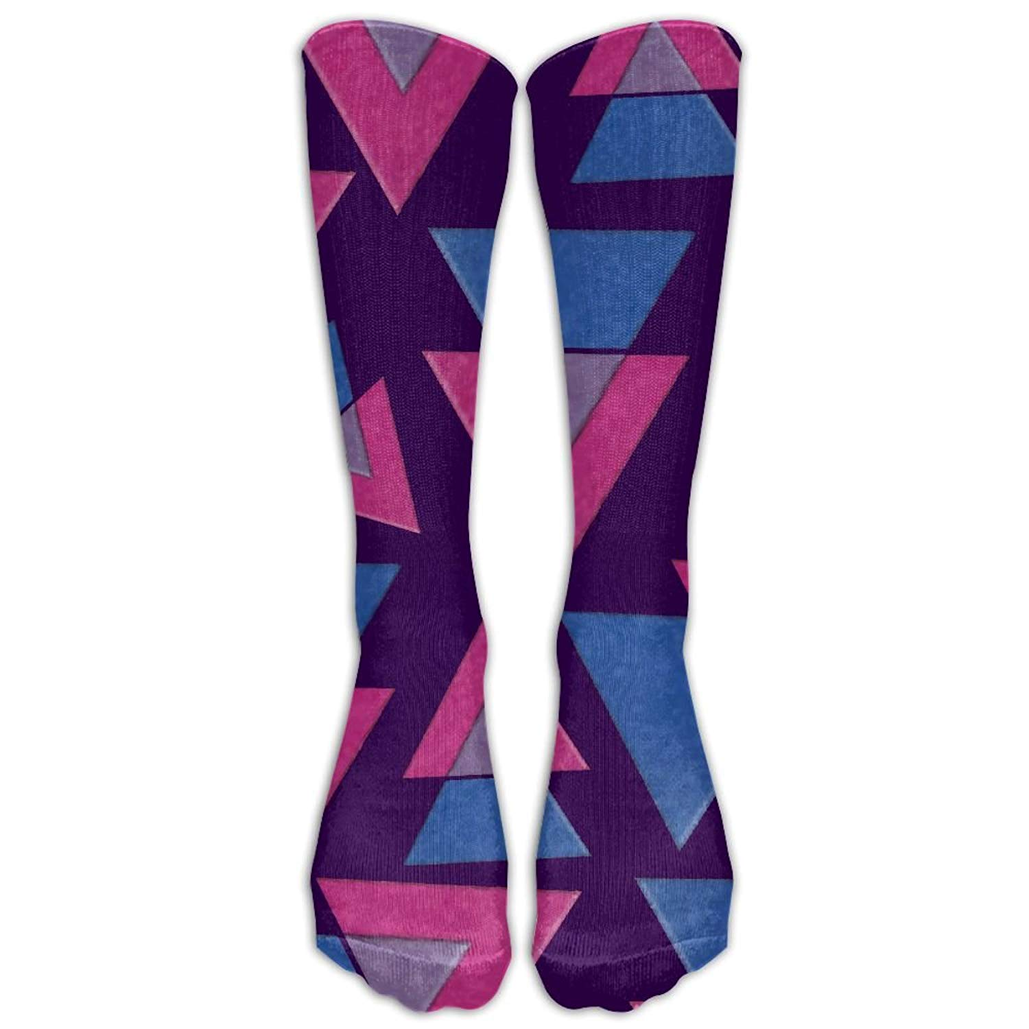 c00be936091 Get Quotations · Bisexual Pride Triangles Flag Funny Women Knee High Long  Socks Over The Calf Long Socks