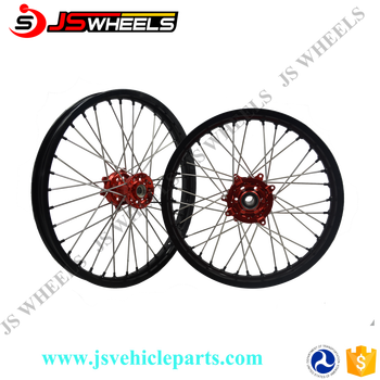 Motocross Crf 450 Wheel Set With Black Rim,Red Hub Silver Spoke ...