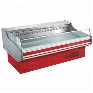 3m long service counter refrigeration equipment showcase for supermarket meat retail store commercial place use blue ocean