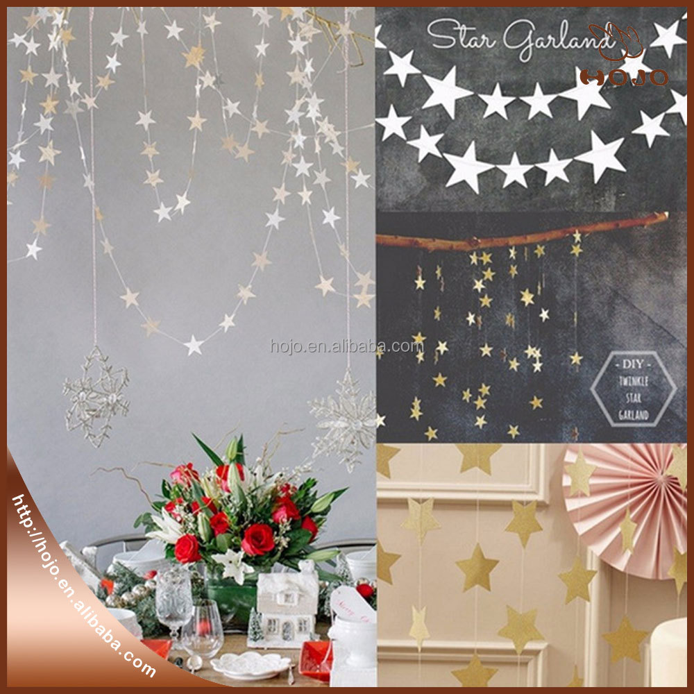 4 meters of creative pearl cardboard stars ornaments accessories Lahua