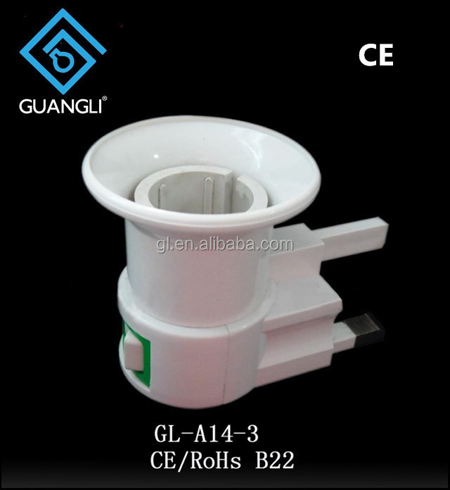 UK BS to B22 caliber lamp electrical plug socket types adapter factory