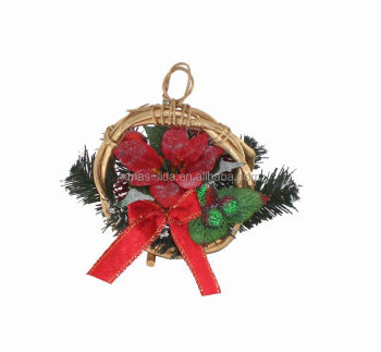 lovely artificial christmas wreath artificial flower basket decoration