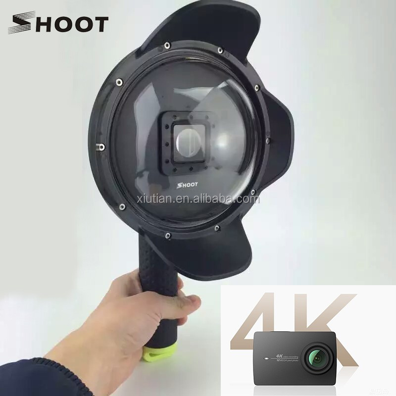 Xiaoyi Camera YI 4K Dome Port with Lens Hood Fisheye SHOOT Brand