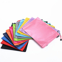 promotional blank zipper nylon college pencil pouch
