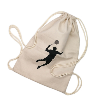 Sports Custom Cotton Drawstring Backpack