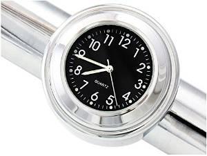 """7/8"""" 1"""" Motorcycle Handlebar Chrome Black Dial Clock Waterproof Shock resistant Glow in dark Fit For Suzuki GSF650 BANDIT 2007"""
