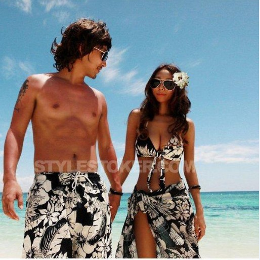 Couples swimwear couples swimsuite 2015 korean couple ...