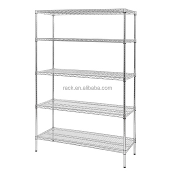 Nsf 4 Tiers #304 Stainless Steel Display Wire Shelving Unit Rack - Wire Shelves Nsf on
