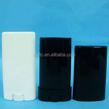 Deodorant Containers New & Empty Oval Lip Balm Tubes White 15ml Made In  China - Buy Deodorant Mini Container,Oval Lip Balm Tube,Black Flat Tube