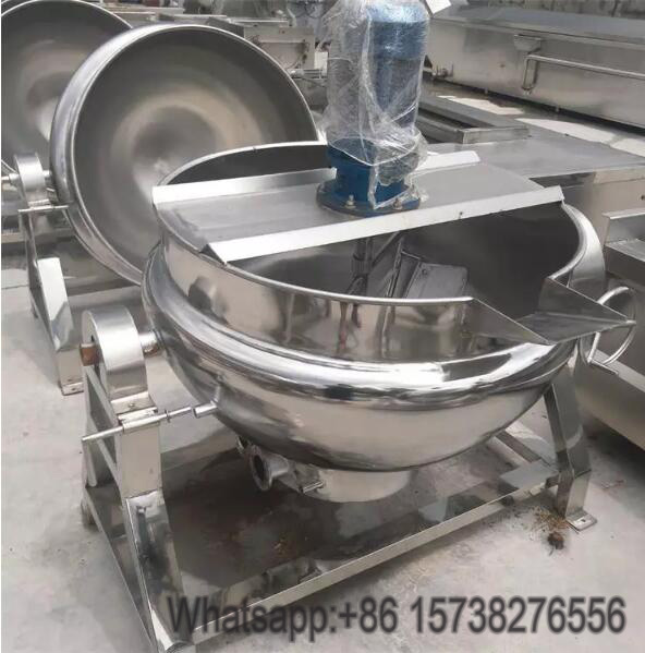 2018 big capacity food grade industrial stainless steel industrial cooking pot with mixer