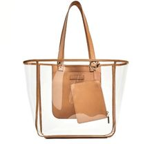 Causal Clear Transparent plastic Handbags Tote Womens Purse Ladies Shoulder Bags