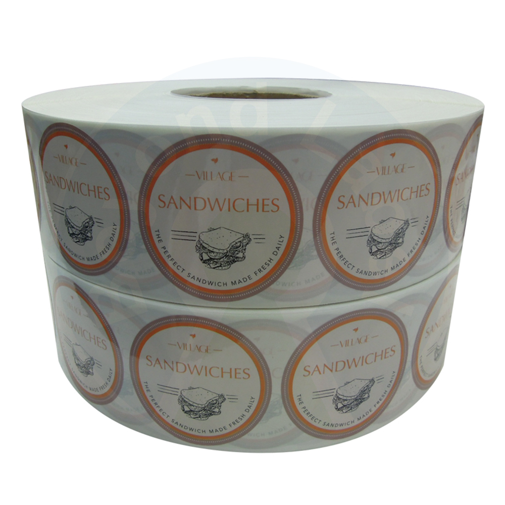 Waterproof Adhesive Custom Roll Round Label Of Food Products