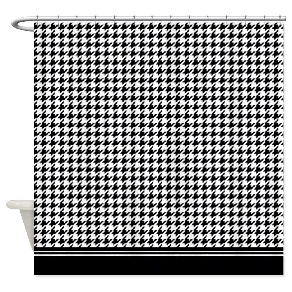 Buy CafePress Grey Retro Houndstooth Shower Curtain