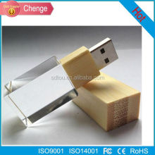 Good USB Flash Drive 64gb 32gb 16gb High Speed USB 2.0 Metal Crystal Glass LED Light USB Thumb Drive