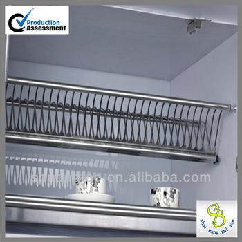 Double Kitchen Dish Rack Stainless Steel Utensil Plate