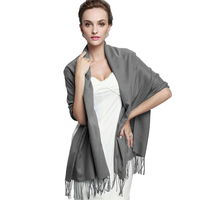 Fashionable ladies winter solid color wool acrylic scarf pashmina women