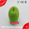Artificial foam green apple fruits,vegetables,plastic artificial fake food factory
