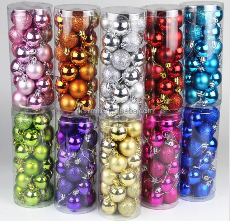 DEMIZXX438 Wholesale Fashion Printed Custom Shiny Cheap Price Beautiful Hotel and Market Round Sahpe Christmas Decoration Ball