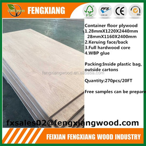 Contaier floor high bending strength plywood,28mm 19ply board