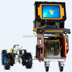 Pipe inspection crawler robot wireless sony ccd cctv camera sensor system