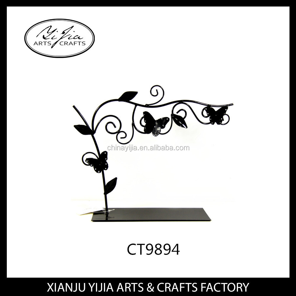 fashionable mental butterfly earring jewelry organizer hanging holder