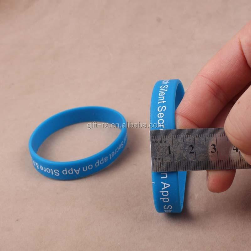 2019 del nuovo divertente promozionale impresso a buon mercato fascino personalizzato schiaffo rotonda del silicone wristband
